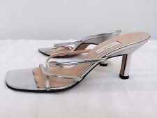 SALE Vera Wang Ladies Silver Leather Sandal  7 1/2N  Worn Once