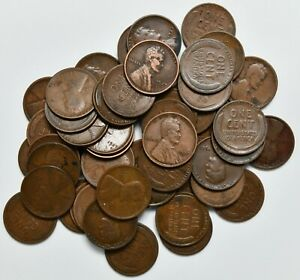 1927 D 50 Count Roll of Lincoln Wheat Pennies ~ No Culls