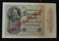 Germany Early Banknote 1000000 Mark 1923