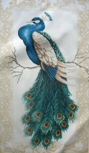 Lanarte Counted Cross Stitch Unframed Tapestry Picture Peacock 34963