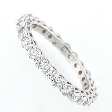 14k Diamond Eternity Band 1.76 Carats - Eternity Diamond Ring- Size 7 1/2  NEW
