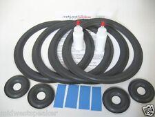 KEF Reference 107 107/2 Woofer Refoam Speaker Kit w/ Foam Donut Dust Caps!!!