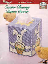 Easter Bunny Tissue Cover ~  Plastic Canvas Pattern ~ Easter Pattern ~ Cute