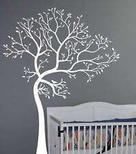 7FT. LARGE Wall Decal TREE WITH BIRD Deco Art Sticker Mural - COLOR WHITE