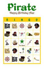 Pirate Birthday Party Game Bingo Cards