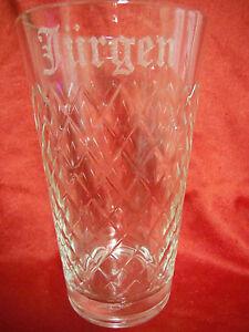 Apfelweinglas mit Namensgravur, Lasergravur