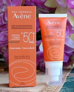 Avene tinted Sun Cream SPF50. For Sensitive Skin 50ml. Very high protection.