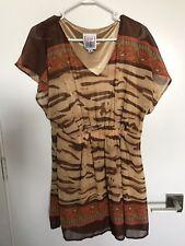 New listing Michael Vollbracht Rare Vintage 1980s 2-Piece Skirt Set Animal Boho Print Nwt