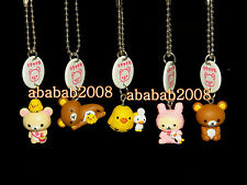Yujin San-X Rilakkuma Bear keychain gashapon figure (full set of 5 figures)