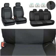 Car Front Seat Cover 9PCS Artificial PU Leather Universal Seat Cushion Protector