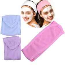 3 x Soft Adjustable Towelling Hair Turban Head Band for Make Up Facial Salon Spa