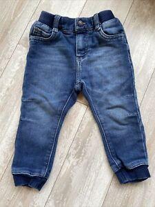 Levis Baby Boy Knit Joggers 24 Months Blue Denim Cuffed Elastic Waist
