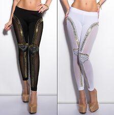 Women's Studded Side Mesh Legging - S/M, M/L