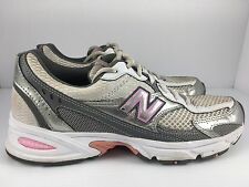 New Balance 350 Abzorb Women US 8 White Gray + Pink Walking Hiking Athletic Shoe