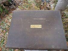 Vintage Oneida Community Silverware Wooden Chest Flatware Storage Box One Drawer