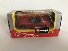 Bburago Red Dodge Viper RT/10 Made And Printed In Italy