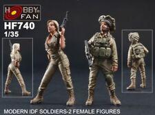 Hobby Fan 1/35 HF-740 Modern IDF Soldiers - 2 Female Figures
