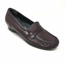 Women's SAS Easier Clogs Loafers Shoes Size 10.5N Burgundy Leather Tripad AD6