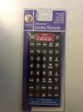 New Universal Jumbo Remote Black For TV DVD Satellite Cable And More