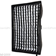80x120cm Recessed Large Softbox 5cm Honeycomb Grid Bowens S Fitting Photo Light