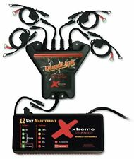 Pulsetech Xtreme 4-Station QuadLink Battery Charger Kit, Black New