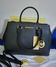 Real Women's Michael Kors sutton  Satchel Saffiano Leather handbag black
