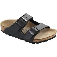 Birkenstock ARIZONA 1005127 (Reg) Kids Summer Birko-Flor Two Strap Sandals Black