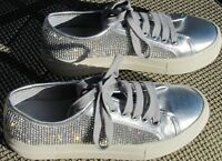 NWOB Gianni Bini silver & crystals athletic style shoes. SIZE 10 M