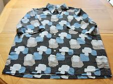 Mens 2XL XXL Designer 100% Thai Silk Holiday BOWLING Hawaiian Shirt Black Funky