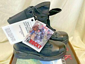 ROCKY US Navy Flight Deck  Hot Weather Steel Toe Combat Boots 6129. Sz 7.5 XW