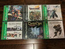 New listing Lot of 17 Playstation 1 Games (Final Fantasy, Dragon Warrior, Tactics Ogre)