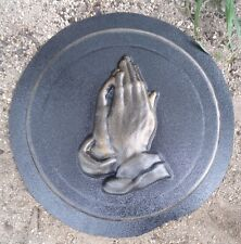 Plaster,concrete praying hands mold stepping stone plastic mould