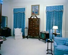 President John F. Kennedy's White House bedroom with TV 1962 New 8x10 Photo