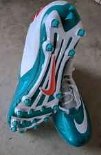 NIKE Football Cleats SuperBad Pro Lunarlon Miami Dolphins 534994-117 Mens Sz 13