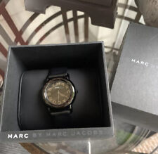 marc by marc jacobs Black Leather Watch