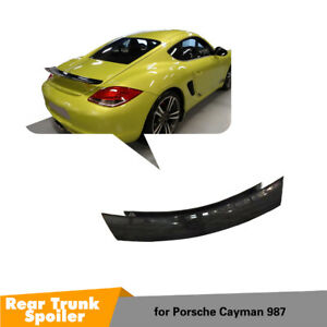 Rear Boot Spoiler Wing For Porsche 987 Cayman 2009-2012 Carbon Fiber Factory