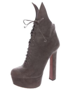 ALAIA Suede Taupe Ankle Boots SZ 38 = US 7.5 - 8 - NWOB - RT $1,850.00 + Tx