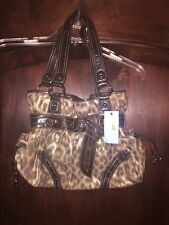 Kathy Van Zeeland gold leopard knotting hill belt shopper hobo purse handbag