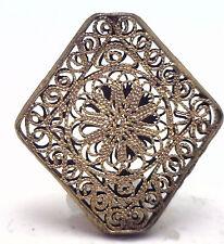 Antique Gilt Edwardian FILIGREE Bead Bracelet Link Pendant Parts Repair KK310