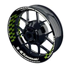 Felgenaufkleber Motorrad Felgenrandaufkleber Wheelsticker Kawasaki grid grün - S