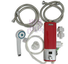 220V Caravan Camping Mini Portable Electric Hot Water Heater Shower System New