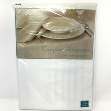 Carefree Elegance 60 x 84 Table Cloth Easy Care Soft Touch White Bardwil Linens