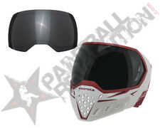 Empire EVS Paintball Goggle Mask w Ninja Lens White Red