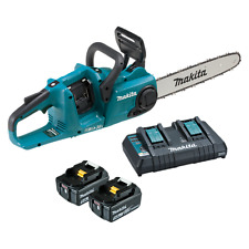 Makita CORDLESS CHAINSAW KIT DUC353PT2 18V Variable Speed +2xBatteries & Charger