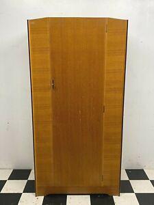 Vintage mid century Avalon Yatton oak / teak veneered wardrobe cabinet -Delivery