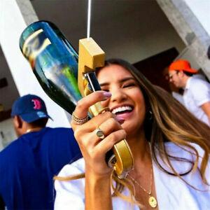 Gold Champagne Gun Dispenser Pourer Stopper Sprayer for Party