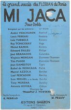 "Partition Accordéon ""Mi Jaca"" Mostazo-Perello-Charco-Verchuren-Azzola-Murena-Etc"