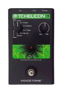 TC Helicon VoiceTone D1 Doubler and Detuner Effect Voice Processor Pedal
