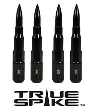 20PC TRUE SPIKE 121MM 12X1.5 BLACK EXTENDED STEEL TUNER SPIKED BULLET LUG NUTS