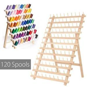 120Spool Wood Sewing Thread Stand Organizer Craft Embroidery Storage Rack Holder